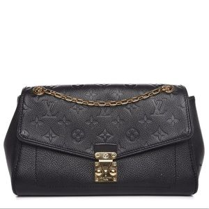 {Louis Vuitton} Black Empreinte Saint German PM